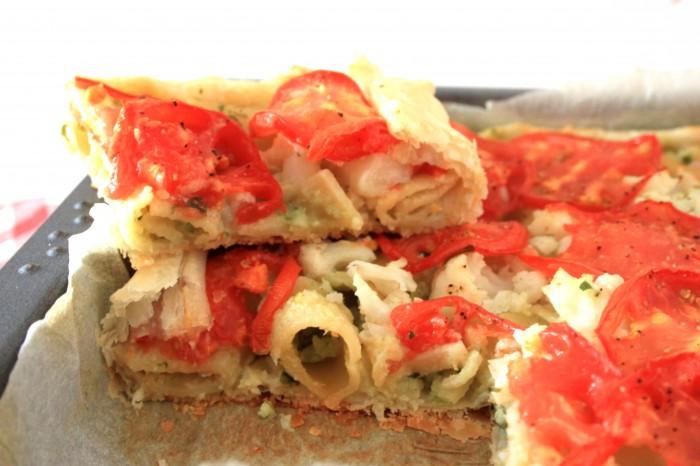 torta salata vegan al cavolfiore
