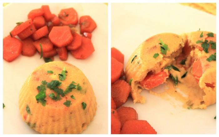 sformato vegan alle carote monoporzione