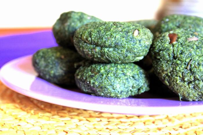 polpette di patate vegan verde spinacio