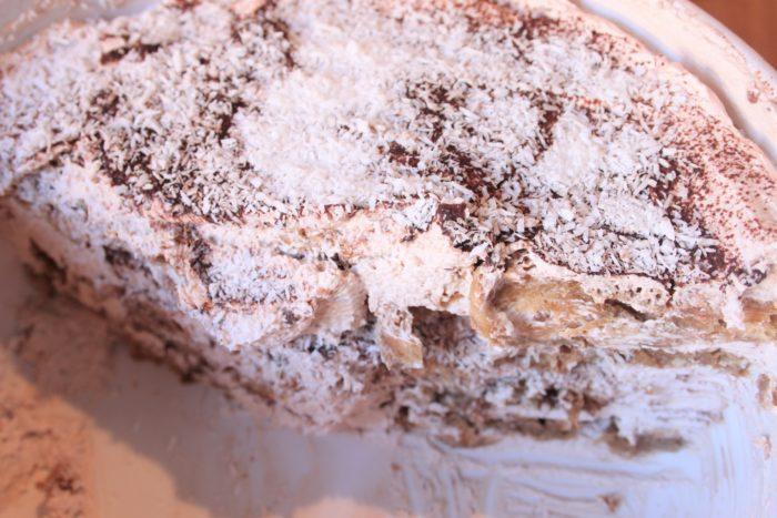 Tiramisà vegan al cocco e cioccolato - la ricetta