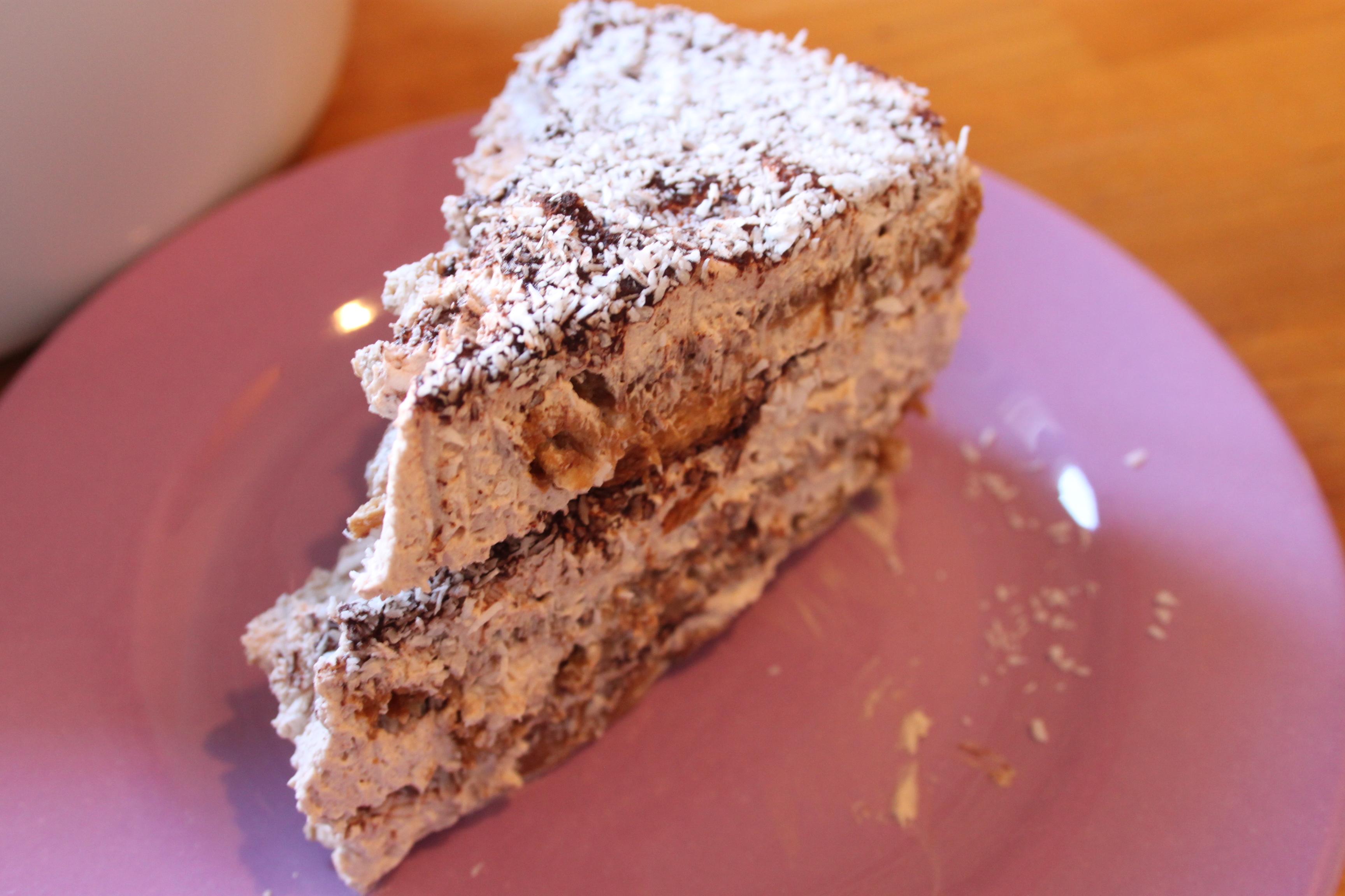Tiramisù vegan cocco e cioccolato