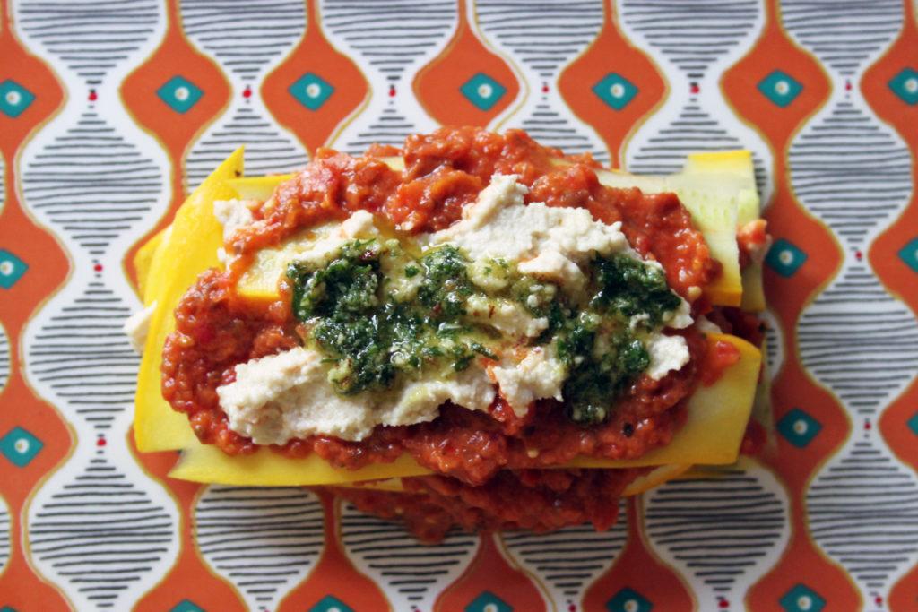 lasagne di zucchine crudiste ricetta