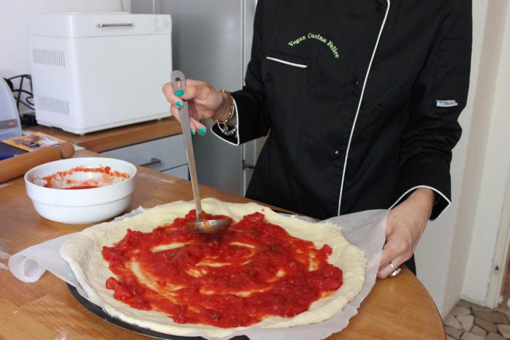 ny style vegan pizza