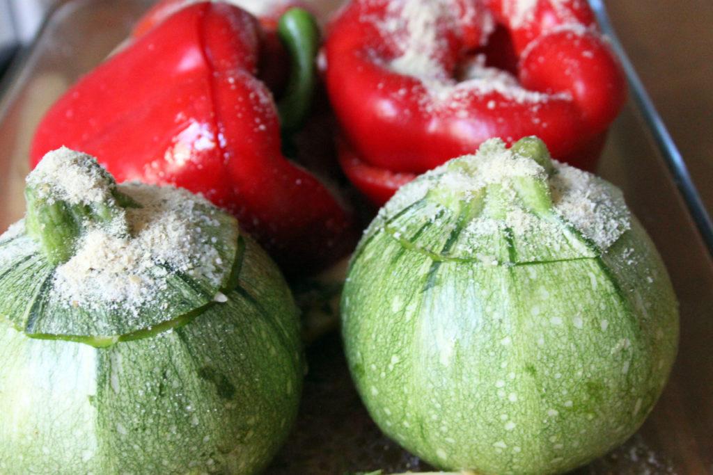 verdure ripiene di riso alla greca