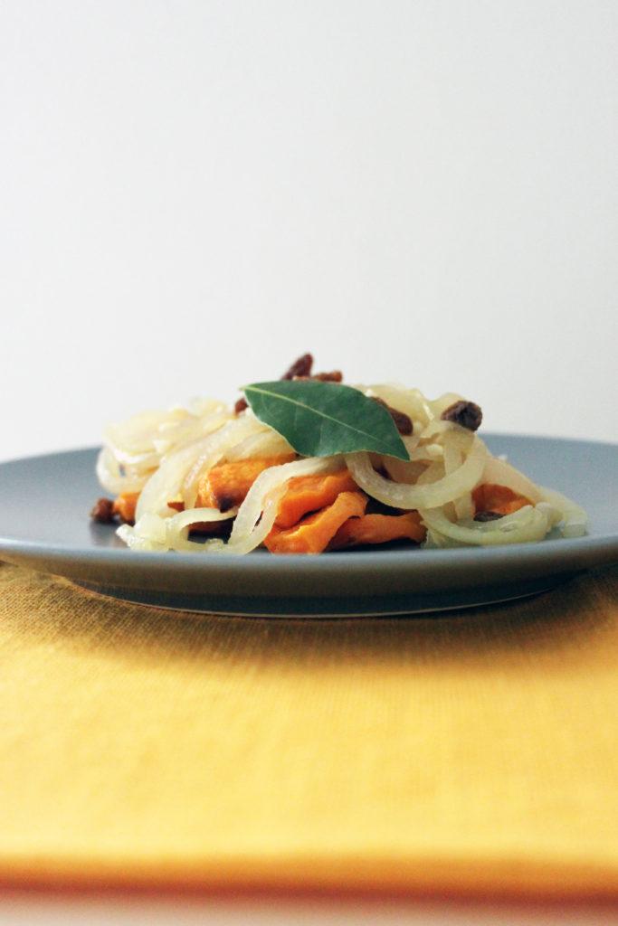 zucca al saor al forno ricetta vegan