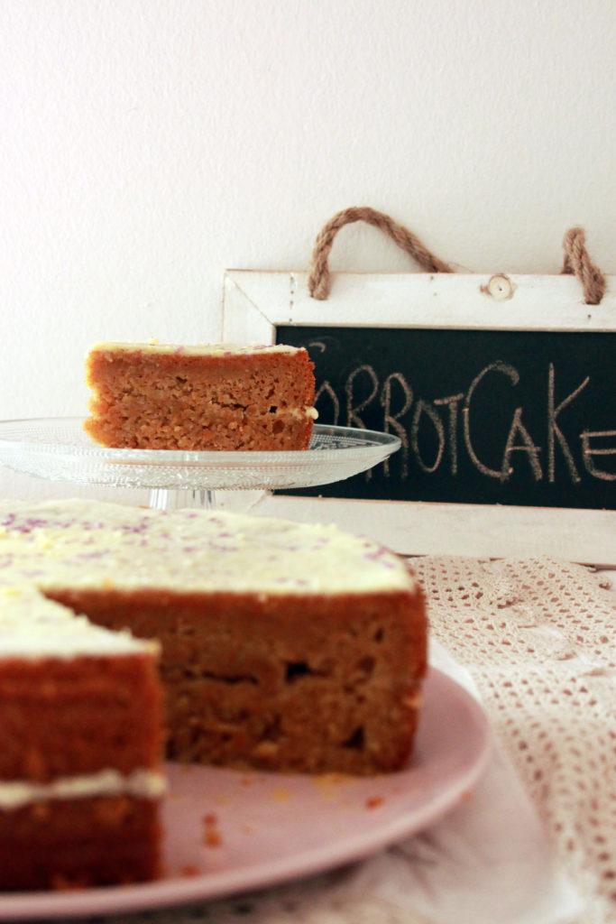 vegan carrot cake ricetta