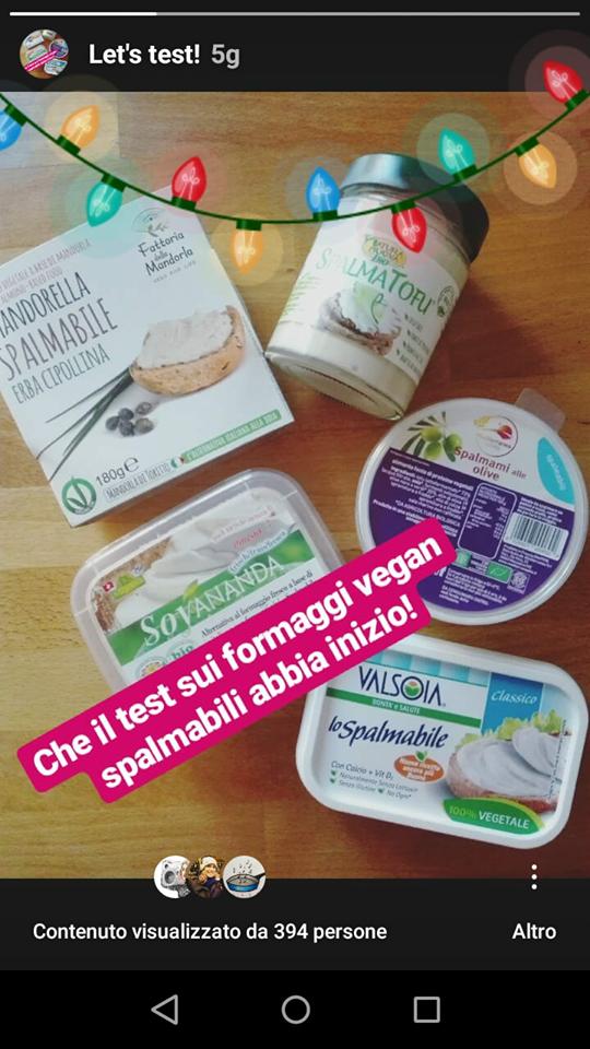 formaggi spalmabili vegan