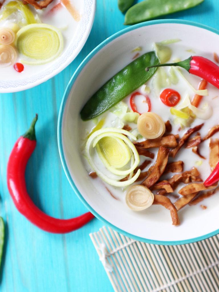 zuppa latte di cocco vegan
