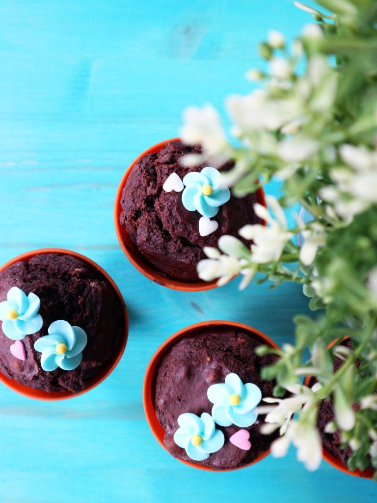 muffin vegan al cioccolato fondente