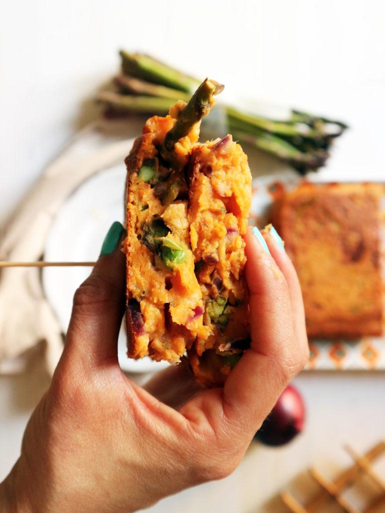 frittata vegan di asparagi