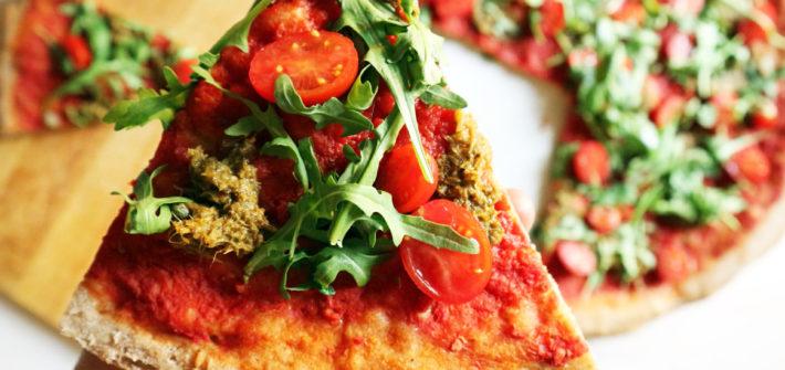 pizza vegan con lievito madre fresco