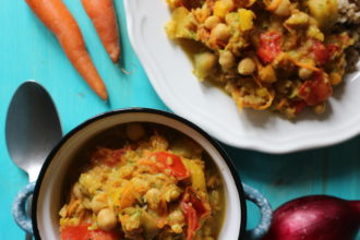 curry vegan di ceci e verdure