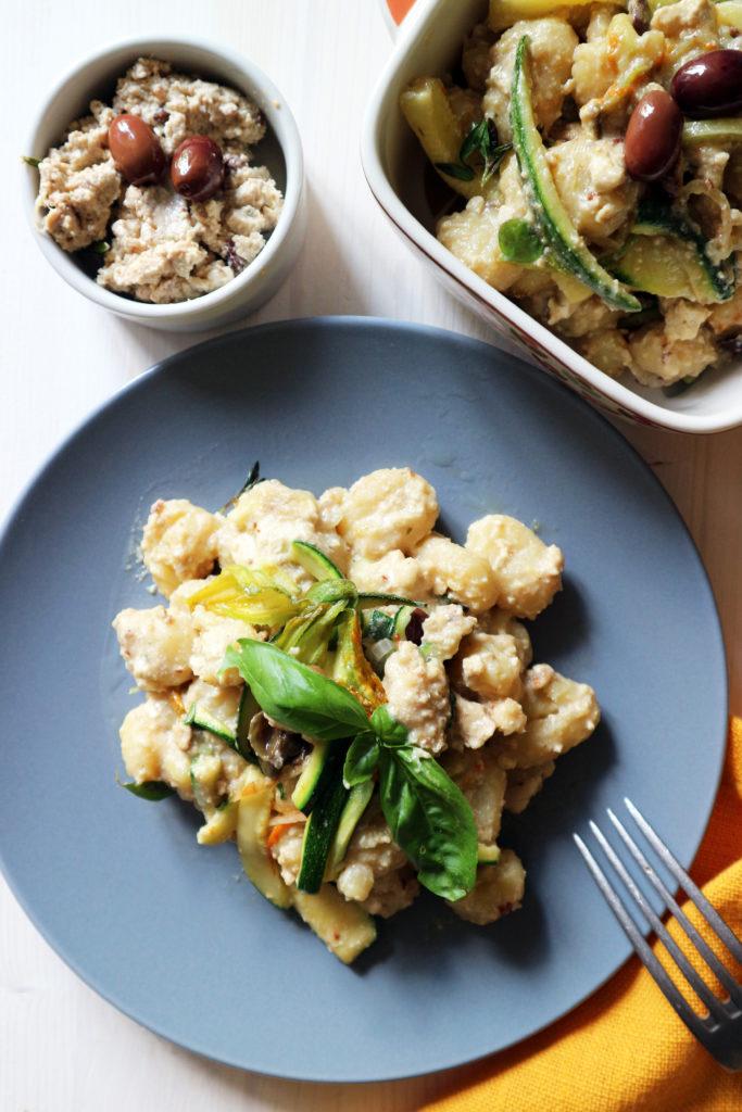 gnocchi vegan con sugo di tofu