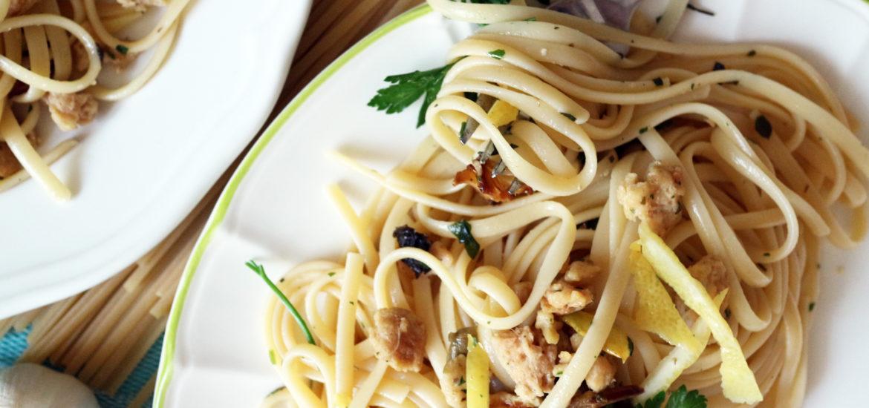 spaghetti alle vongole vegan