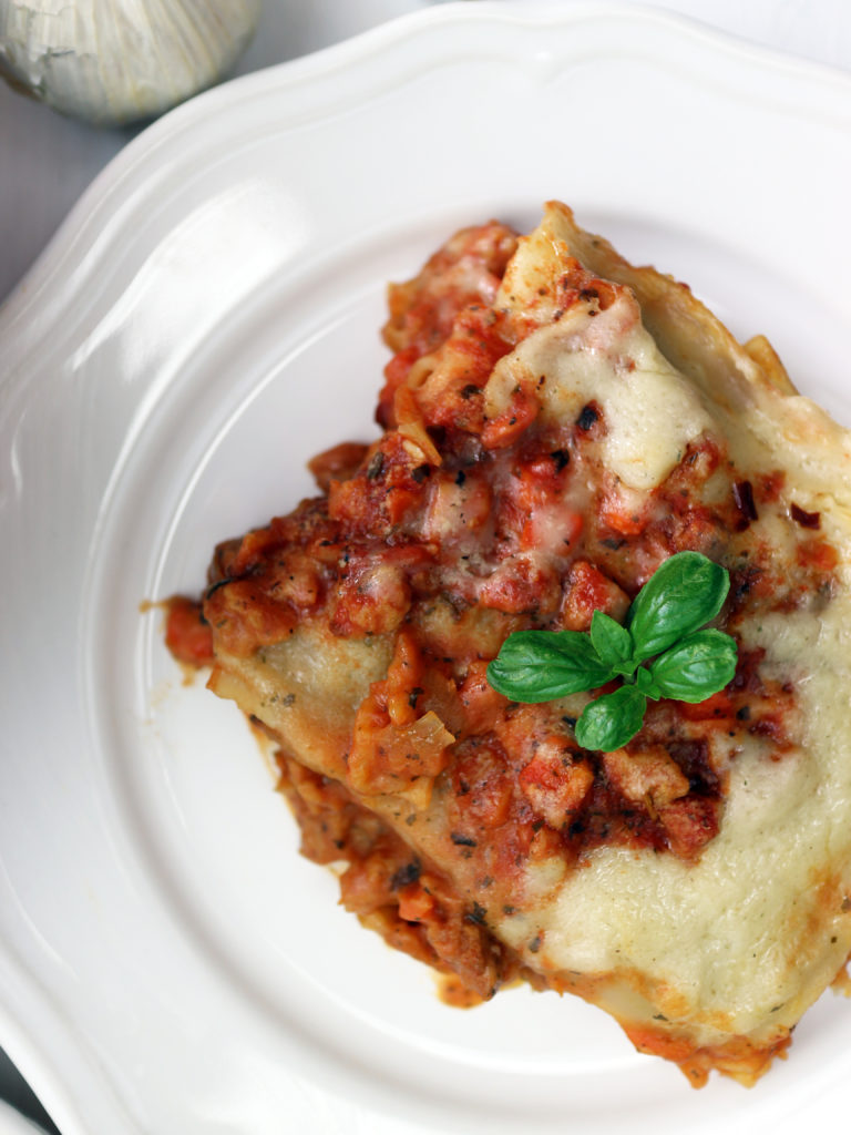lasagne con ragù vegetale
