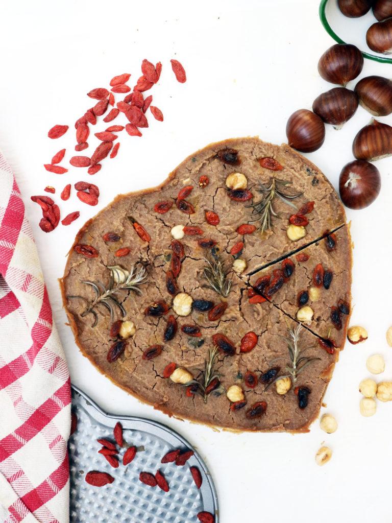 castagnaccio vegan ricetta