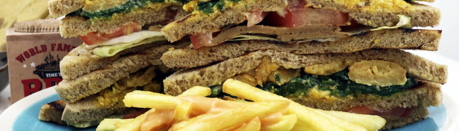 club sandwich vegan ricetta