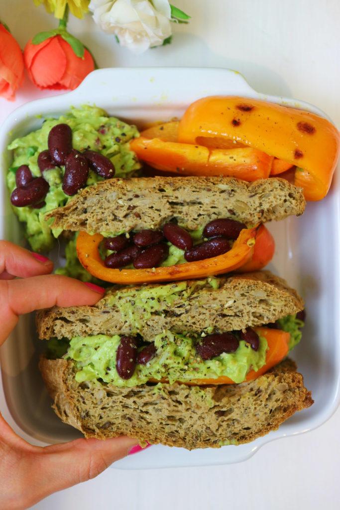 sandwich proteico vegan