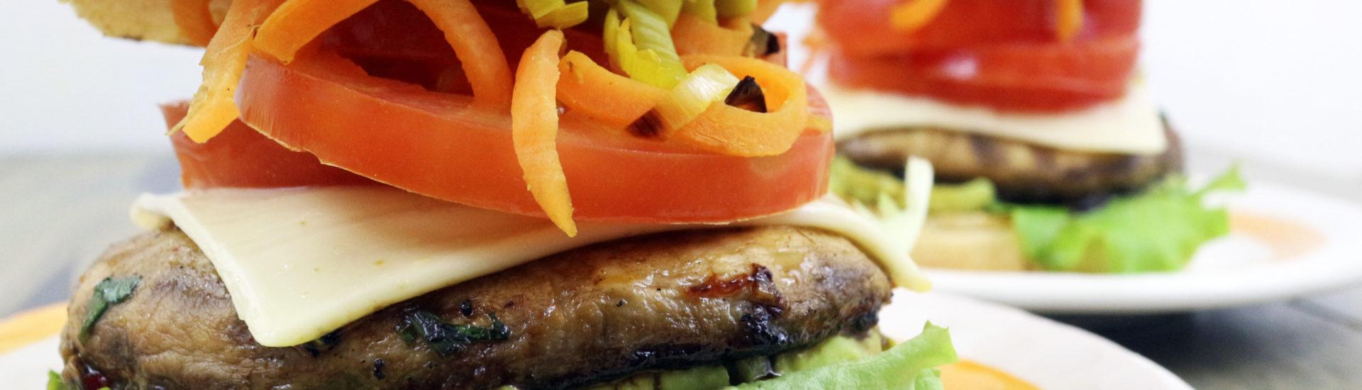 Burger di Portobello vegan