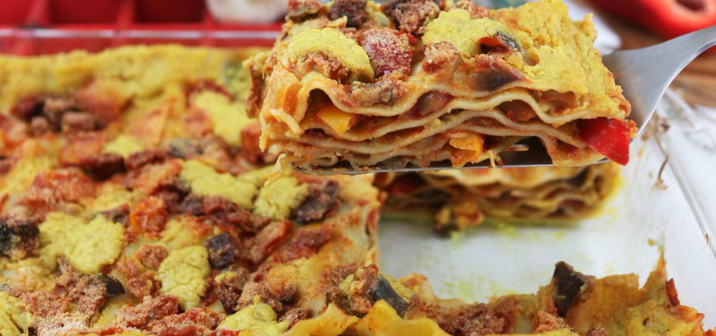 Lasagne con zucchine e melanzane vegan