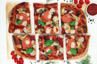 pizza capricciosa vegana