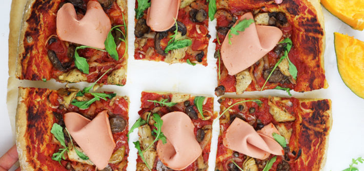 pizza con impasto di zucca