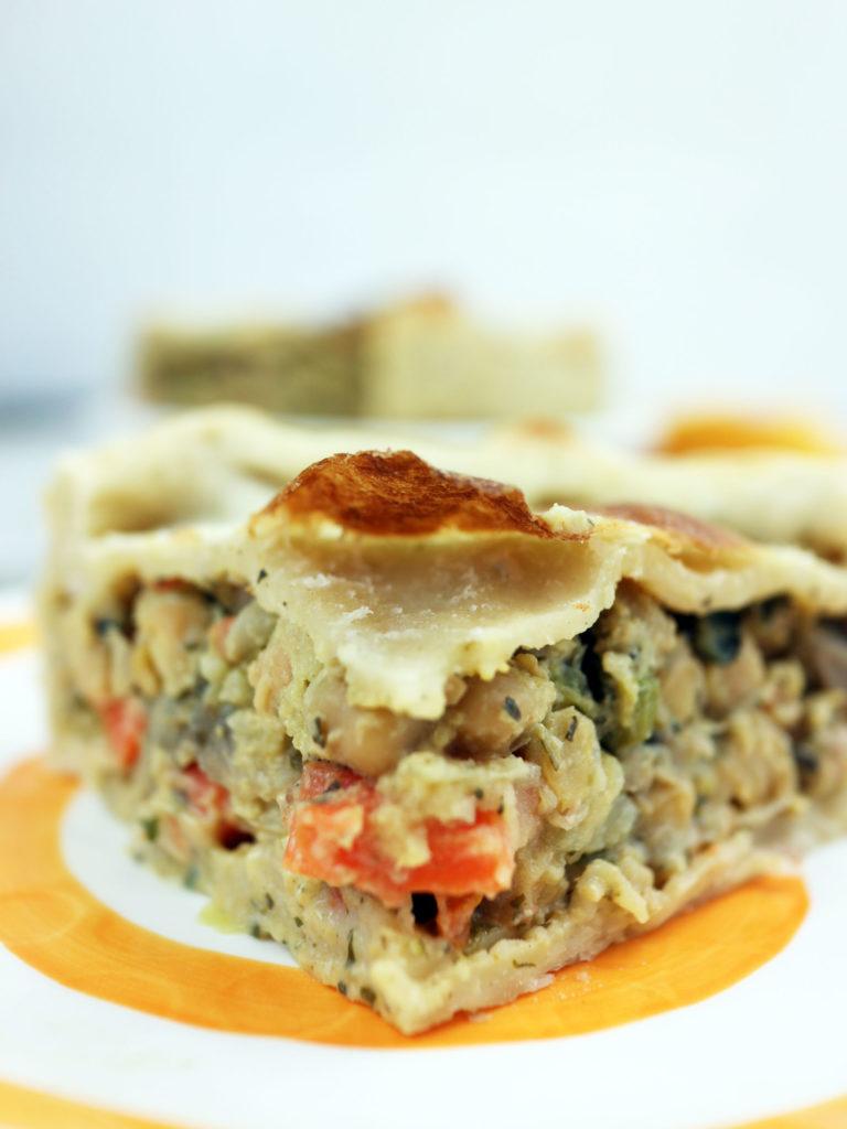 torta salata vegana con farina di ceci