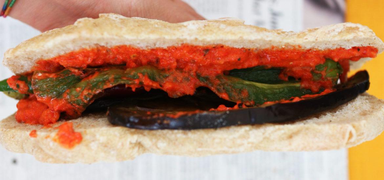 panino vegano alle verdure