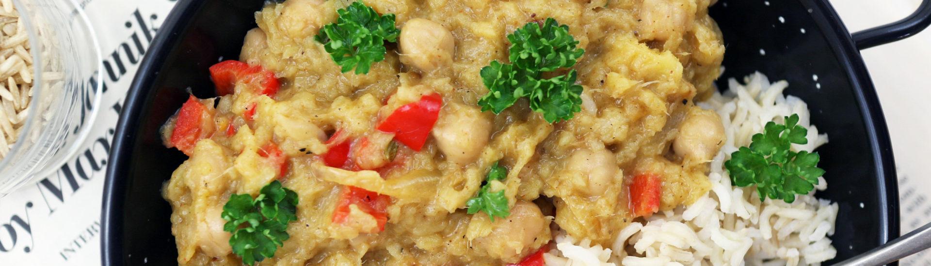Curry vegan mango e ceci