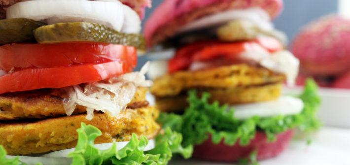 hamburger vegano gourmet