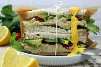 vegan tunacado sandwich
